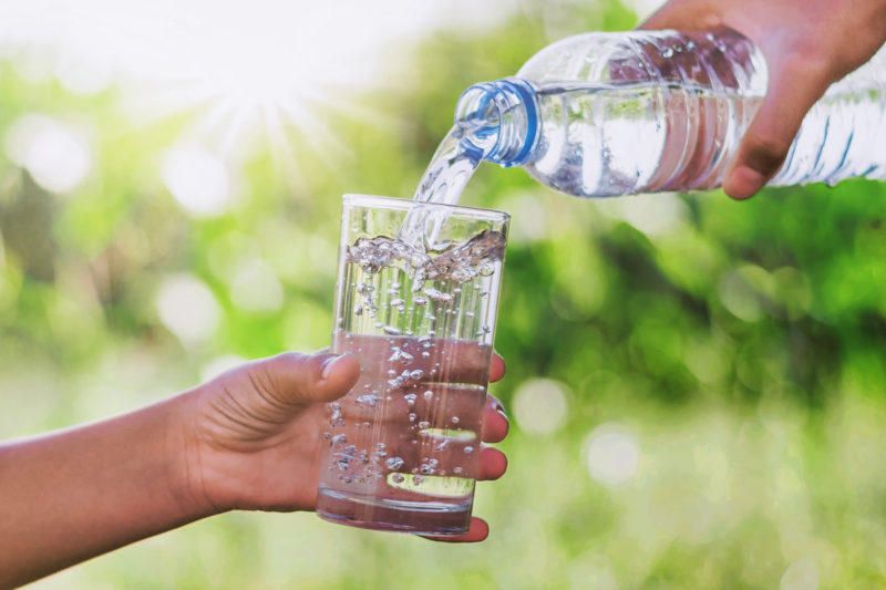 Ensure your bottled water is from a sustainable source, look for the SANBWA logo on the label